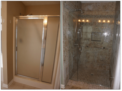 Shower Stall side-by-side