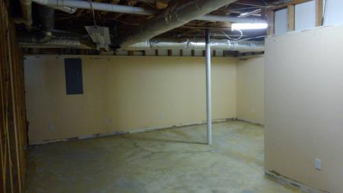 basement during demo